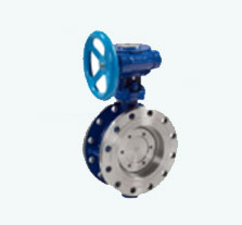 Triple offset butterfly valves with metal seat guide