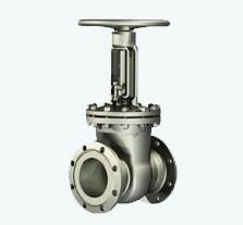 Rising stem wedge shaped valves