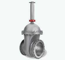 Non-rising stem wedge shaped valves